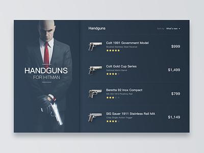 Handguns For Hitman prize shop desktop list gun hitman handgun