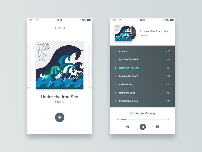 Album app list player album ios music music album