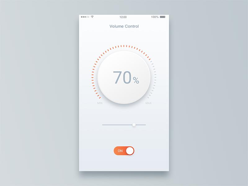 Volume Control app slider switch volume volume control