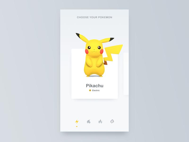 Pokemon - I Choose You mouse card ui electric select choose pikachu pokemon