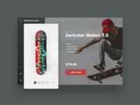 Skateboard Store - Product Detail skate skate shop store portfolio web deisgn web street deck skateboard ux ui concept inspiration
