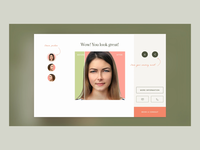 Dermatology Clinic consultation with Face Recognition technology illustration website design website medical dermatology face recognition surgical dermatology medicine clean acne icon web ux ui design consultation medical skincare skin healthy dermatology