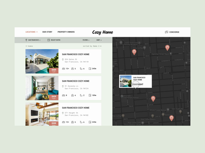 Design for a house booking website product trip website calendar instagram location gallery travel amenities design web check in real estate ux ui hotel booking apartment house rent