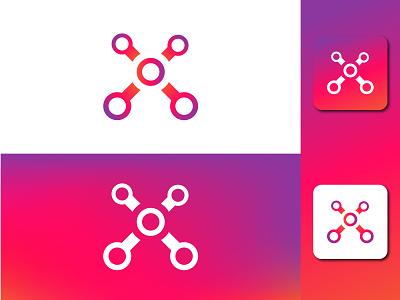 X tech mark identity brand lettarmark tech logo technolozy tech xtech x branding logo