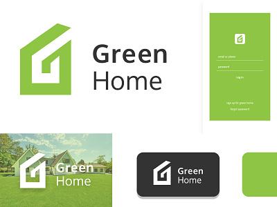 green home logo company business logo design lettarmark identity branding logo home letter g fresh eco green