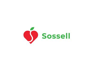 Sossel, fresh and healthy design identity brand love food green nutrition health healthy eco logo branding fresh