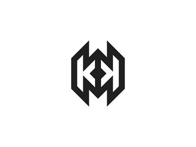 Kk letter logo kk logo k logo design branding identity brand graphic design monogram logo lettarmark letter kk