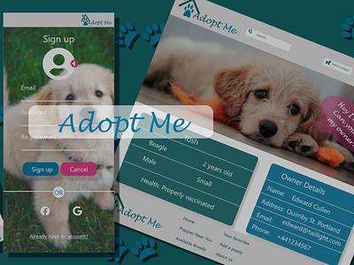 Adopt me - a responsive website design ui ux