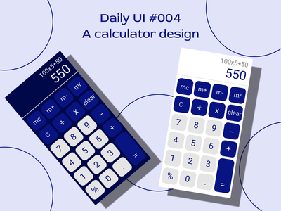 #dailyui #004 - a calculator design design ux ui