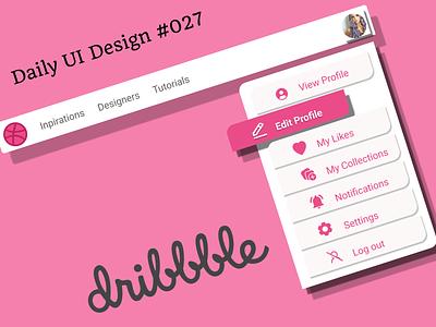 #DailyUI #027 - Dropdown design ux ui