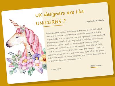 #DailyUI #032 - Blog Post design ux ui