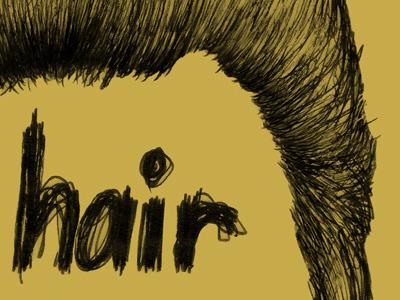 Drawing of Christopher Walken's hair