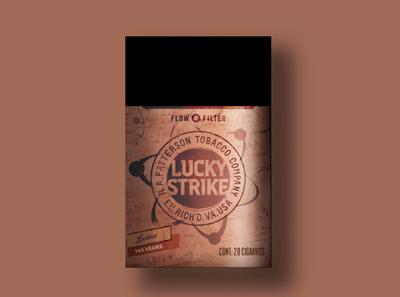 Lucky Strike 1905 branding design packaging branding lucky strike