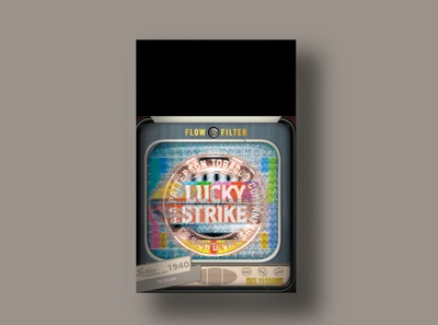 Lucky Strike 1940 packagingdesign packaging branding tv lucky strike