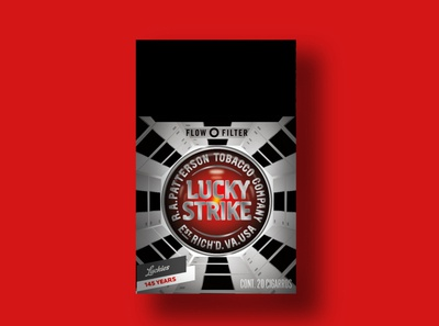Lucky Strike 1968 film packaging design packaging branding