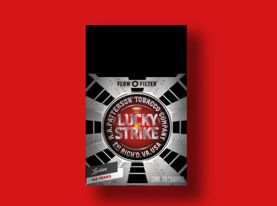 Lucky Strike 1968 film packaging design packaging branding