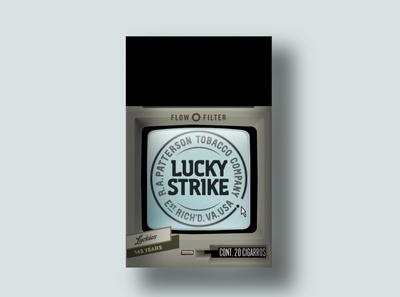 Lucky Strike 1984 branding design packaging lucky strike