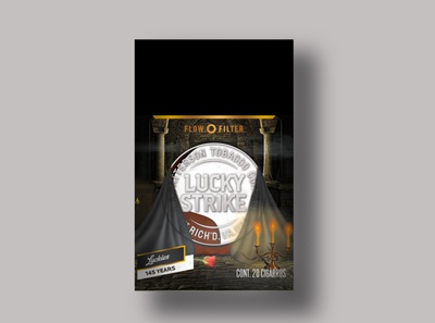 Lucky Strike 1986 package design design packaging branding lucky strike
