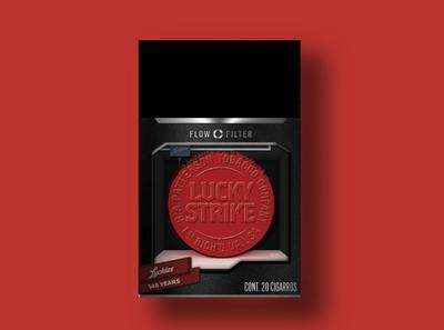 Lucky Strike 1987 branding 3d printer packagingdesign packaging lucky strike