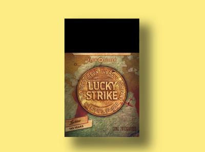 Lucky Strike 1989 map fly packaging design branding lucky strike