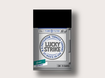 Lucky Strike 1992 windows 95 windows ui packaging design packaging branding lucky strike