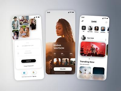 Social Media App Designs designing illustration mobile app design ios app development ios app design futuristic design android app development android app design ui design uiux ui