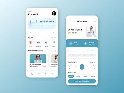 Doctor Appointments App designing design mobile app design ios app development ios app design futuristic design android app development android app design ui design uiux ui