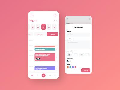 Schedule Management App designing design mobile app design ios app development ios app design futuristic design android app development android app design ui design uiux ui