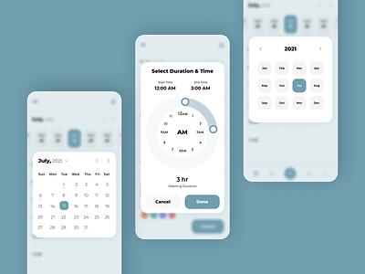Date & Time Picker Designs designing design mobile app design ios app development ios app design futuristic design android app development android app design ui design uiux ui