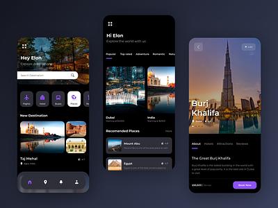 Tour & Travel App Designs creative mobile app design ui design android app design ios app development ios app design futuristic design android app development uidesign ux ui
