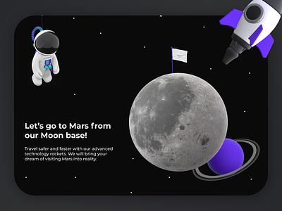 Space Travel Website space omega orion website designs unique designs space website ux ui