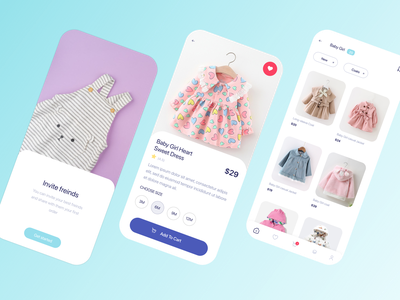 Children Cloth Shopping App Designs product designs ios app designs mobile app designs ux designs ui designs ux ui