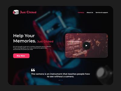 Just Clicked Website website devleopment modern designs modern website website designing ui designs ux ui