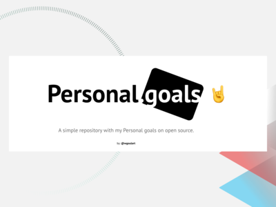Personal Goals - Github cover project