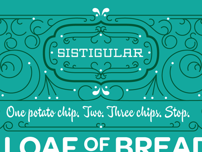 Sistigular typography poster swirls