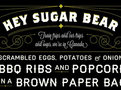 Heysugarbear typography poster
