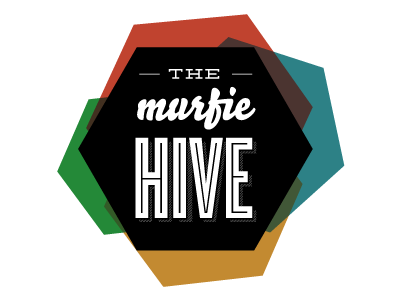 Murfiehive logo honeycomb transparent movement cluster