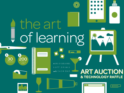 Art of Learning Poster illustration poster two color