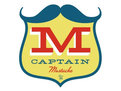 Captainmustache logo typography