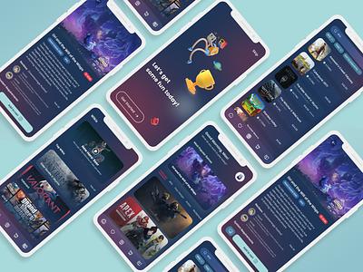 Game Store Mobile App flat minimal art typography gamestore exploration mobileapp branding illustration graphic design app ux ui design