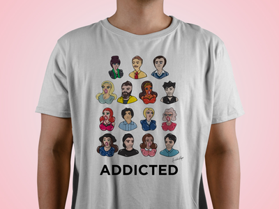 Addicted AU - Cast Characters characters tv series tv show commission character design illustration art illustration digital painting digital illustration design