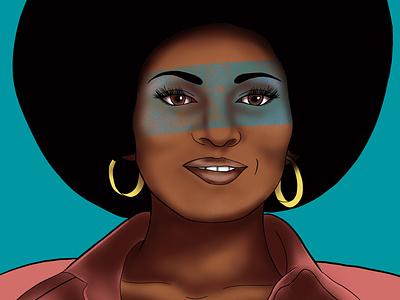 Pam Grier textures pam grier activist digital illustrations portrait illustration portrait art portrait design illustration art illustration digital painting digital illustration