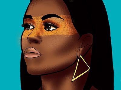 Michelle Obama textures michelle obama michelle pop art digital illustrations portrait illustration portrait art portrait illustration art illustration digital painting digital illustration design