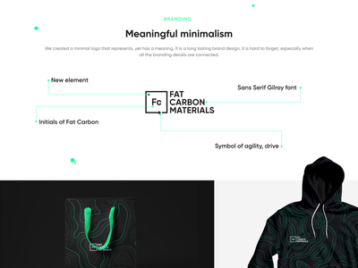 Fat Carbon Materials clean graphic design design identity website web minimal ux branding ui logo