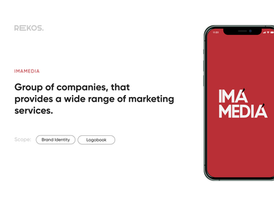 IMA Media branding agency typography minimal logo identity graphic design design clean branding
