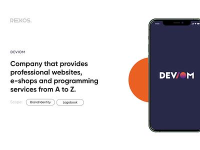 Deviom branding agency typography minimal logo identity graphic design design clean branding