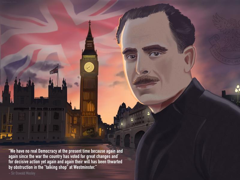 Sir Oswald Mosley siri history britain ipad procreate peakyblinders siroswaldmosley mosley
