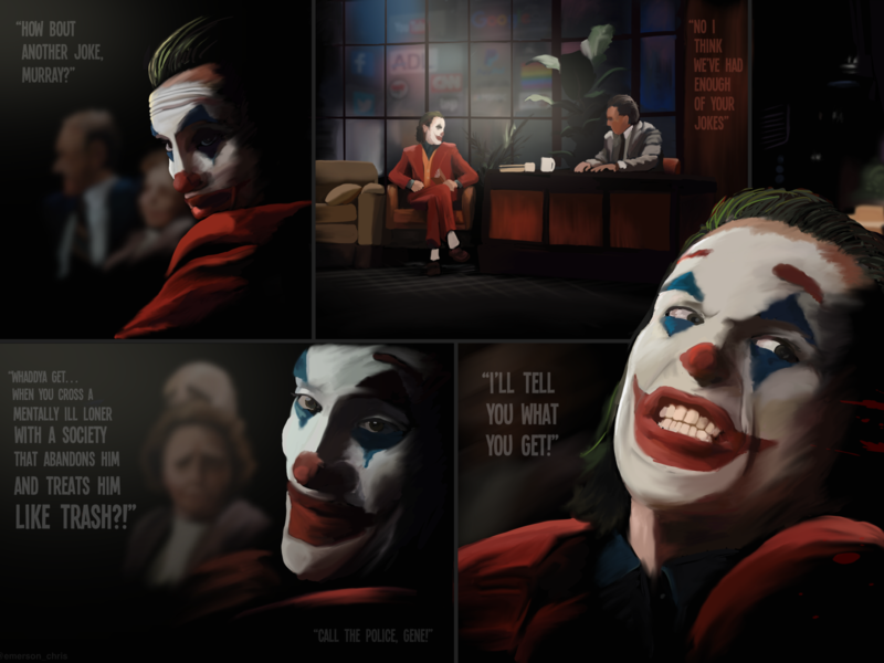 Joker Scene batman ipad procreate joker