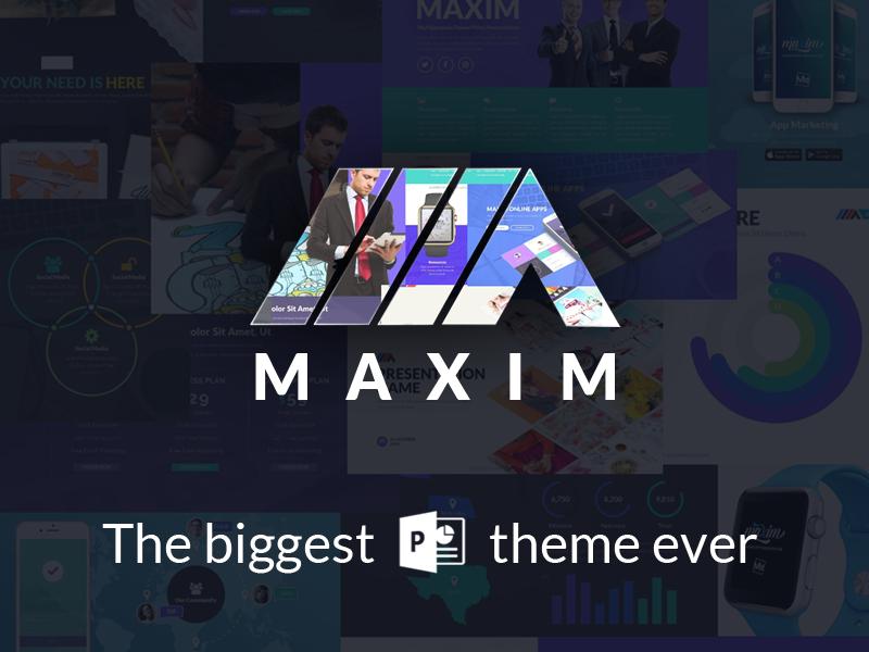 Maxim Powerpoint Template slide ppt design presentation meemslide maxim powerpoint