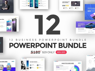 12 in 1 Business Powerpoint Bundle